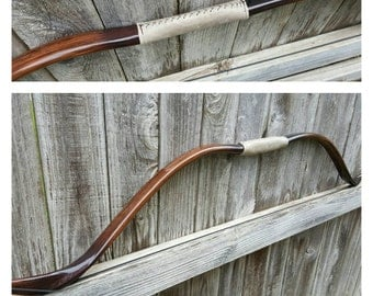 Recurve Bow and Arrows (33 lbs/15 kg) Faux Wood Grain  and Leather Handle