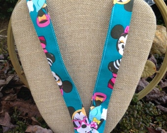 Minnie Mouse Passion for Fashion Lanyard Aqua
