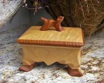 Pet Urn, Small Wood Keepsake, Dog Urn, Keepsake Urn, Partial cremation Ashes, One Of A Kind