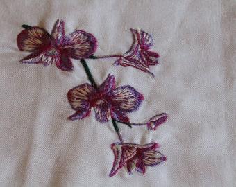 Flowers guest towel