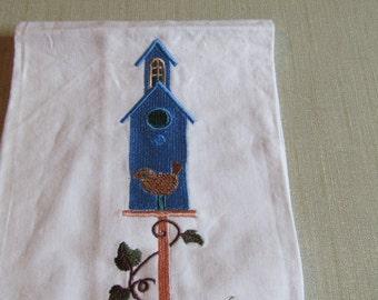 Long Blue Birdhouse
