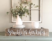 Last Name Sign | Rustic Home Decor | Wedding | Established Date | Family Established Sign | Personalized Sign | Reclaimed Wood