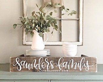 Last Name Sign | Rustic Home Decor | Wedding | Established Date | Family Established Sign | Personalized Sign | Reclaimed Wood | Custom Sign
