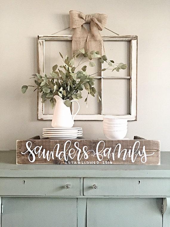 last name sign rustic home decor wedding established