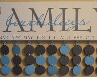 Customize Birthday Boards, Family Birthdays, Family Birthday Board- Artisan hand crafted & personalized