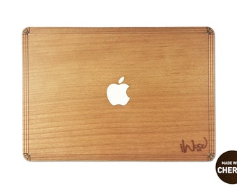 Real Wood Skin for Macbook Pro and Air - CHERRY - free shipping worldwide