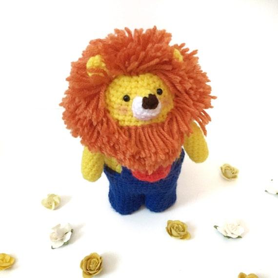 Amigurumi Lion Doll Crochet Lion Plush Crochet Toy Stuffed
