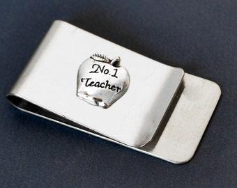 Teacher Gift Money Clip, Paper Clip, Business Card Clip, Stainless Steel Money Clip, Business Card Holder, Stainless Steel Paper Clip