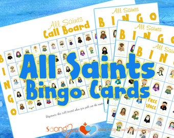 All Saints Bingo Cards PDF
