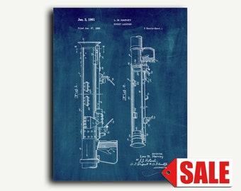 Patent Art - Rocket Launcher Patent Wall Art Print