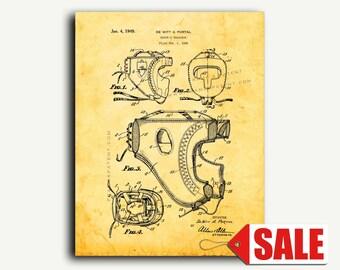 Patent Art - Boxer's Headgear Patent Wall Art Print