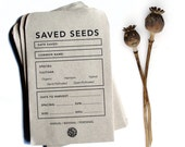 10 Seed Saving Envelopes | Heirloom Gardening | Recycled Paper and Soy Ink