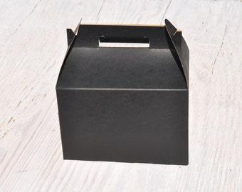 50 Large Black Gable Box 9x6x6 Favor Boxes