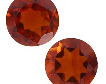 Santa Ana Madeira Citrine Loose Gemstones Set of 2 Round Cut 1A Quality 6mm TGW 1.30 cts.