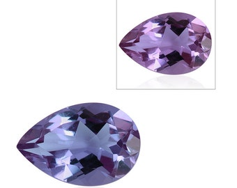 Lavender Alexite Synthetic Color Change Loose Gemstone Pear Cut 1A Quality 12x8mm TGW 2.60 cts.