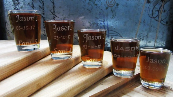 personalized shot glasses unique wedding gift will you be my