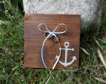 Ring pillow anchor - ring bearer/wedding/ring bearer pillow/rings/rings