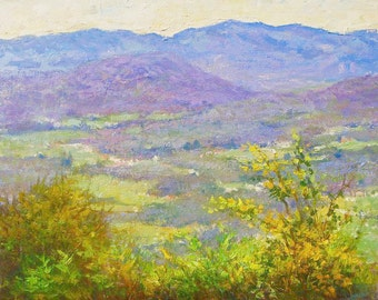 The Blue Ridge mountains in the noon light