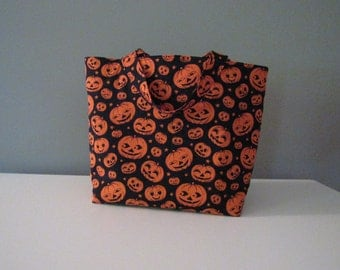 Medium Pumpkin Halloween Trick or Treat Bag