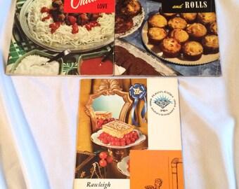 Set of 3 vintage cooking booklets 1952-1964