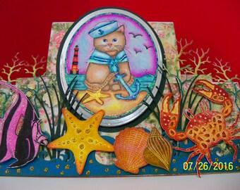 Sailor cat display card