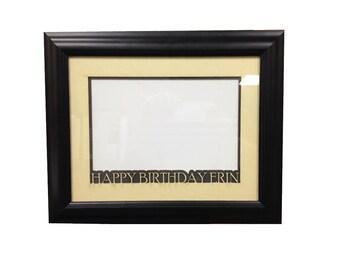 Custom Engraved Mat Board