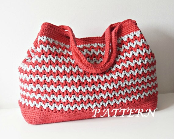 Crochet Pattern Crochet Bag Pattern Tote Pattern crochet purse woman ...
