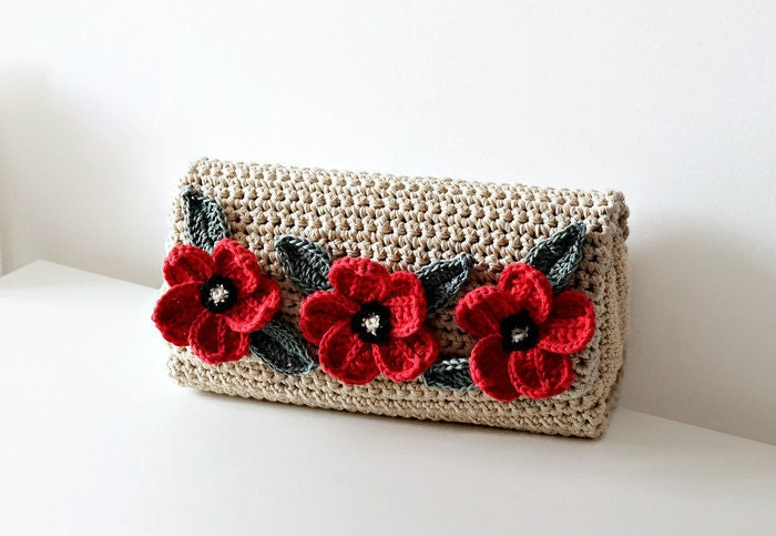 Crochet Pattern Crochet Bag Pattern crochet purse by isWoolish