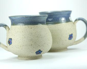 ceramic mug set, couple mug, coffee mug, pottery mug, blue mug, ceramic shop, paint pottery, chrismas mug, large coffee mug, ceramic artist