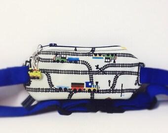 Insulin pump pouch/ trains,tracks/PUL fabric