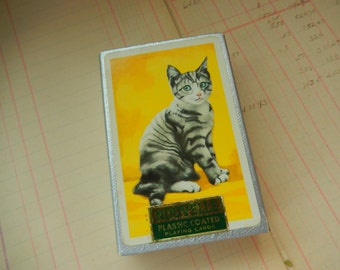 VIntage Used Nouvelle Kitten Cat Playing Cards Full Deck Of 54