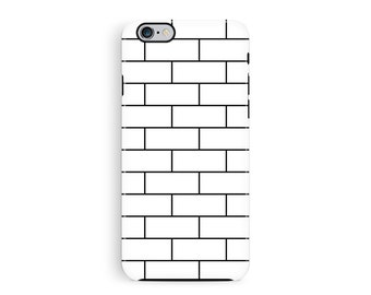 iPhone 5 tough case, iPhone 5S case, brick iPhone 5s, minimalist iPhone 5, iPhone Accessories, white iPhone Case, Hipster cover