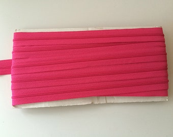 10 yards HOT PINK YKK Nylon Zipper chain 45CF 5/8 inch