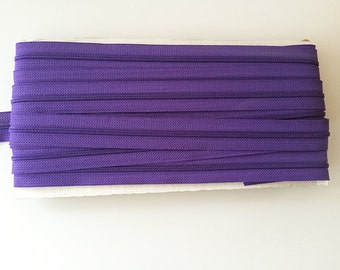 10 yards PURPLE YKK Nylon Zipper chain 45CF 5/8 inch