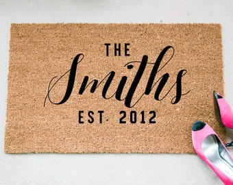 Custom Doormat - The Last Name Doormat - Personalized Welcome Mat - Name Doormat - Reminder Rug - Gift for Newlyweds - Wedding Gift Idea