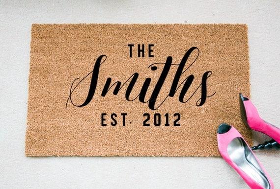 Custom Doormat The Last Name Doormat Personalized Welcome