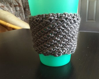 Grey Coffee Cozy