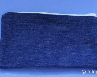 Upcycled Denim Jean Zippered Pouch