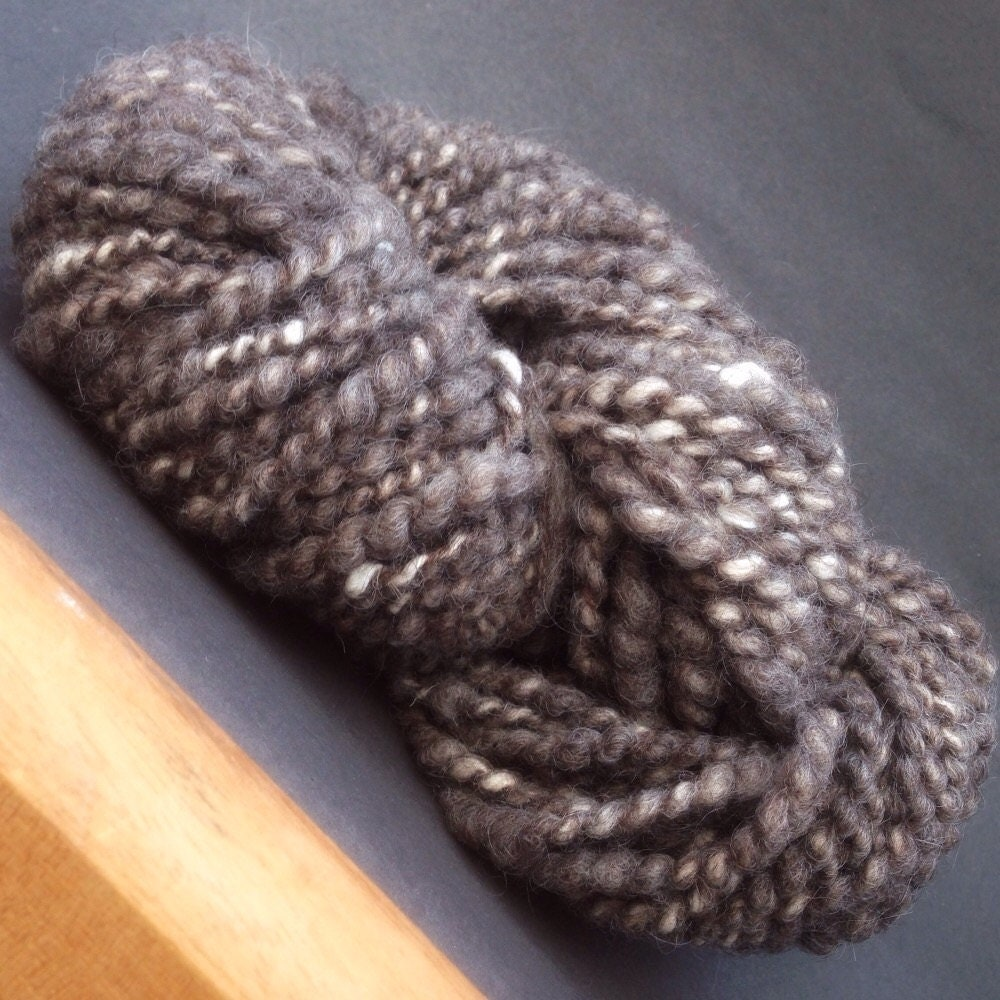 Knitting Handspun Wool : Handspun novelty knitting wool corespun spiral ply alpaca