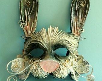 White Rabbit mask, Alice in Wonderland, Papercraft