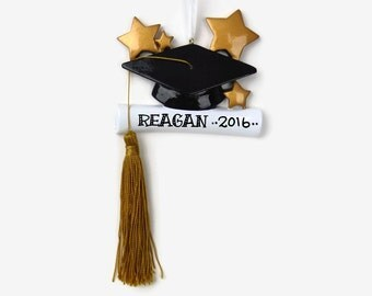 SHIPS FREE - Graduate Personalized Ornament - Hand Personalized Christmas Ornament
