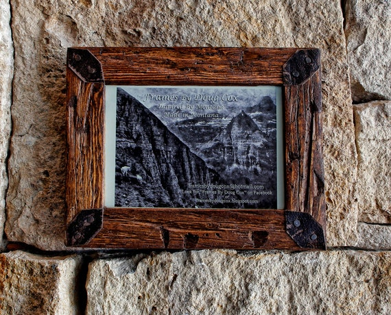 5 x 7 rustic picture frame wood frame rustic decor. Black Bedroom Furniture Sets. Home Design Ideas