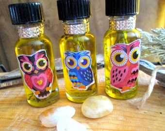 Full Moon Charged Anointing Oil~Sage And Lavender Infused Oil~Candle Anointing For Rituals~Purification And Cleansing Oil~Liquid Smudge