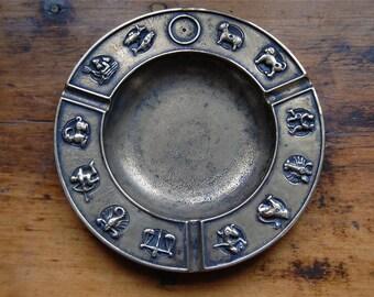 Vintage Brass Zodiac Ashtray