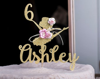 Ballerina Cake Topper, Ballerina Centerpieces, Ballerina Party Birthday Decorations - Custom Ballerina Cake Topper