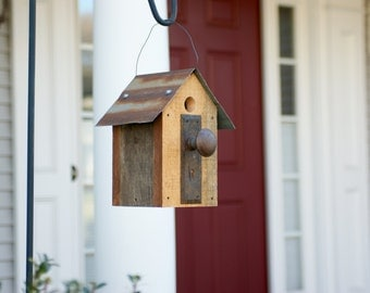 Rustic birdhouse perfect for home or garden