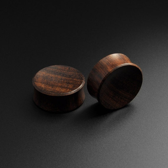 Wooden ear plugs sono wood handmade concave
