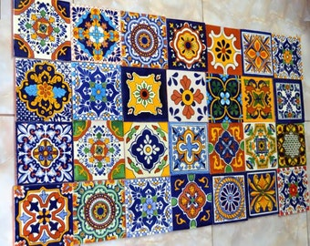 40 Mexican Tiles  6x6 Mix