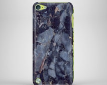 IPOD 5TH GENERATION CASE, blue marble, dark blue, iPod case, iPod touch 5 case, iPod touch case, ipod marble case, iPod 5, marble case, blue