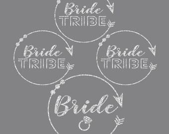 Bride Bundle Circle Arrows of Love Iron On Decals